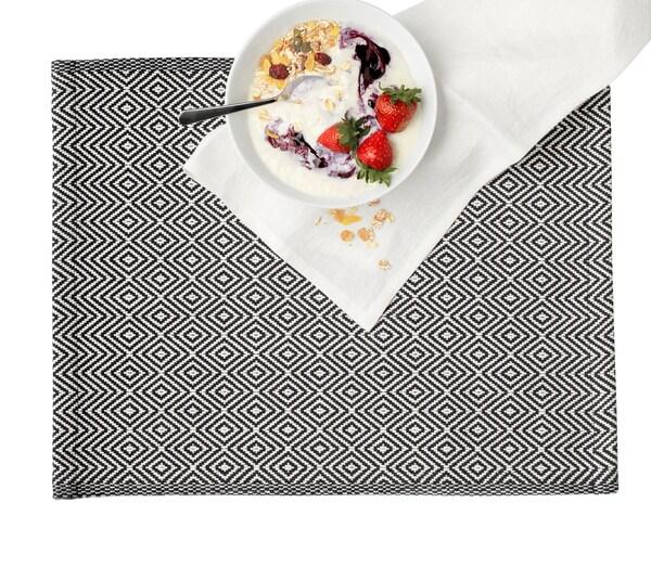 GODDAG Tischset schwarz/weiß 45 cm 35 cm