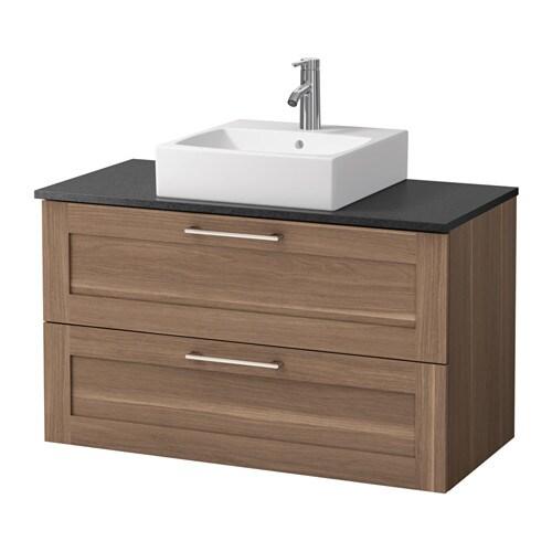 godmorgon aldern t rnviken waschbeckenschr aufsatzwaschb 45x45 schwarz steinmuster. Black Bedroom Furniture Sets. Home Design Ideas