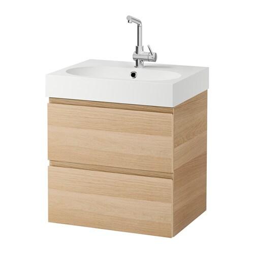 godmorgon br viken waschbeckenschrank 2 schubl eicheneff wlas ikea. Black Bedroom Furniture Sets. Home Design Ideas