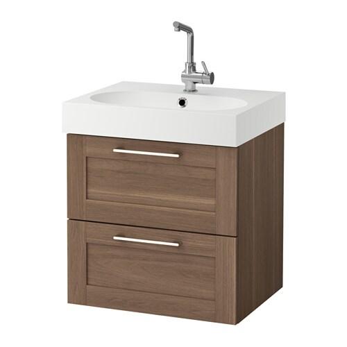 godmorgon br viken waschbeckenschrank 2 schubl nussbaumnachbildung ikea. Black Bedroom Furniture Sets. Home Design Ideas