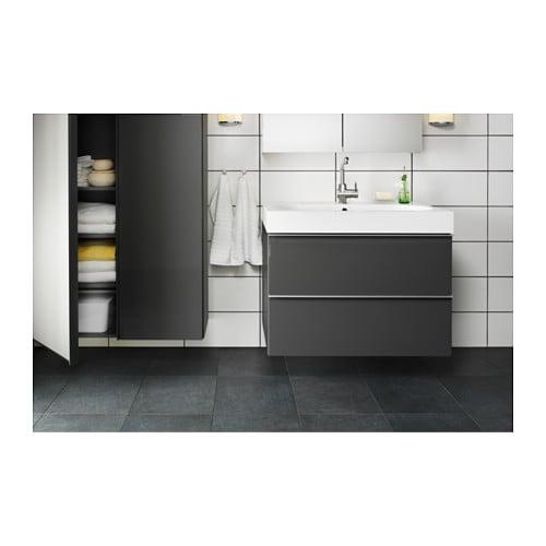Godmorgon Braviken Waschbeckenschrank 2 Schubl Schwarzbraun Ikea