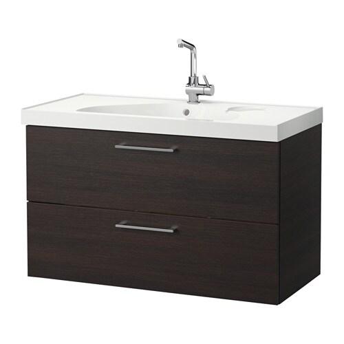 godmorgon edeboviken waschbeckenschrank 2 schubl schwarzbraun ikea. Black Bedroom Furniture Sets. Home Design Ideas