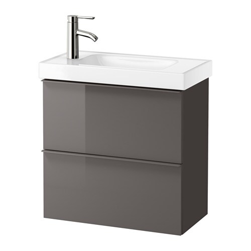Godmorgon hagaviken waschbeckenschrank 2 schubl for Ikea hochglanz grau