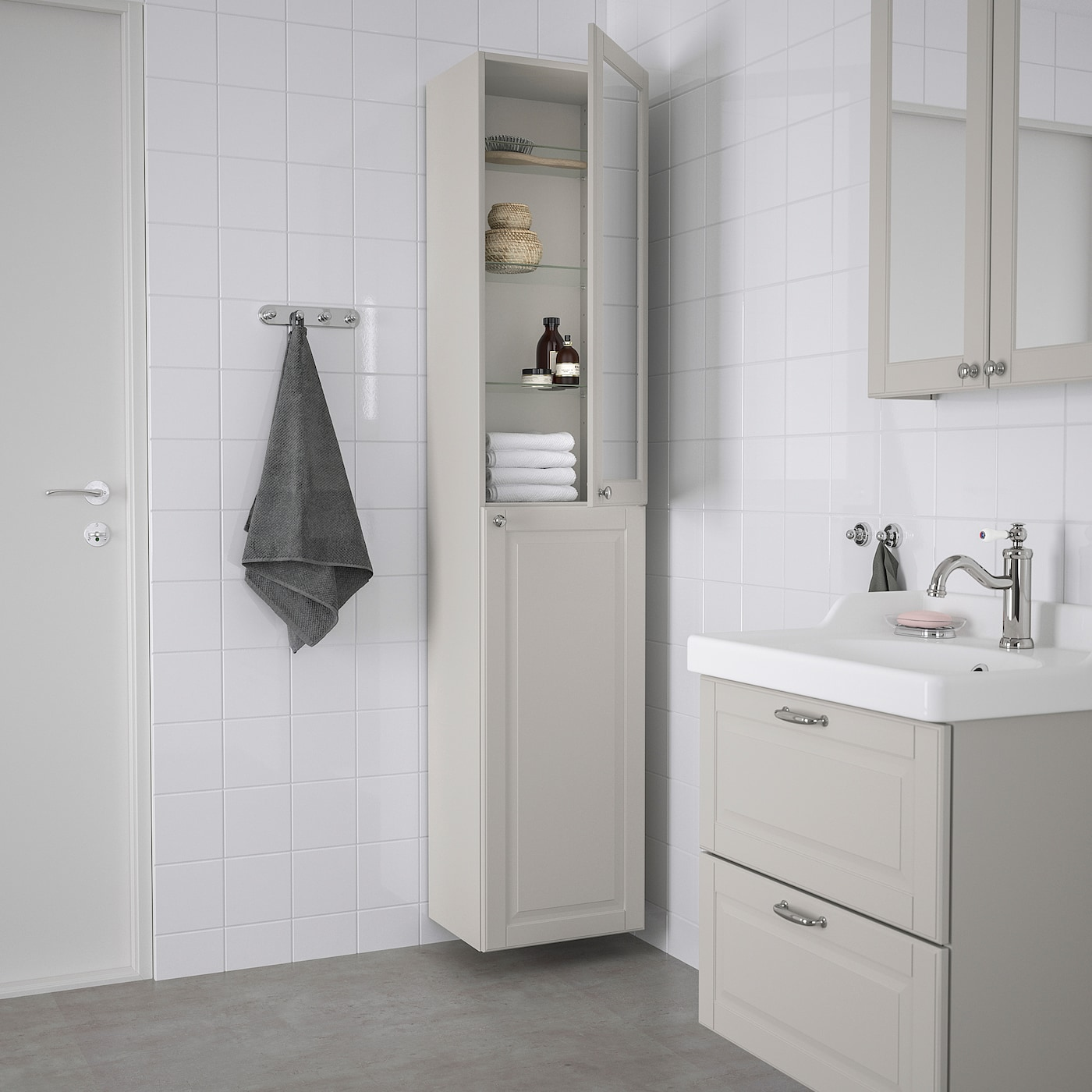 Godmorgon Hochschrank Kasjon Hellgrau Ikea Deutschland