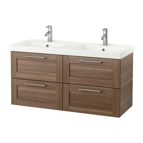 godmorgon odensvik waschbeckenschr 4 schubl nussbaumnachbildung ikea. Black Bedroom Furniture Sets. Home Design Ideas