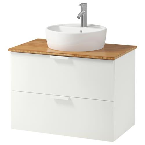 IKEA GODMORGON/TOLKEN / TÖRNVIKEN Waschbschr+aufsatzwaschb 45