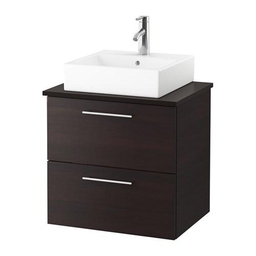 godmorgon tolken t rnviken waschbeckenschr aufsatzwaschb 45x45 anthrazit schwarzbraun ikea. Black Bedroom Furniture Sets. Home Design Ideas