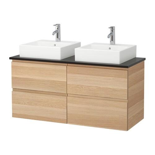 godmorgon tolken t rnviken waschbeckenschr aufsatzwaschb 45x45 anthrazit eicheneffekt wei. Black Bedroom Furniture Sets. Home Design Ideas