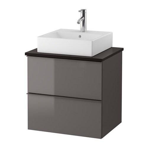 godmorgon tolken t rnviken waschbeckenschr aufsatzwaschb 45x45 anthrazit hochglanz grau ikea. Black Bedroom Furniture Sets. Home Design Ideas