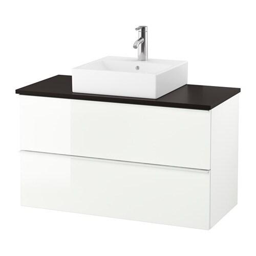 godmorgon tolken t rnviken waschbeckenschr aufsatzwaschb 45x45 anthrazit hochglanz wei ikea. Black Bedroom Furniture Sets. Home Design Ideas