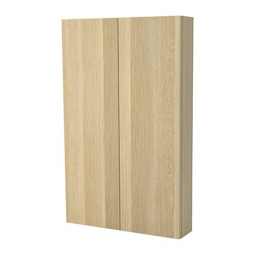 Wandschrank Weiß 25 Cm Tief : GODMORGON Wandschrank mit 2 Türen - Eicheneffekt weiß lasiert - IKEA