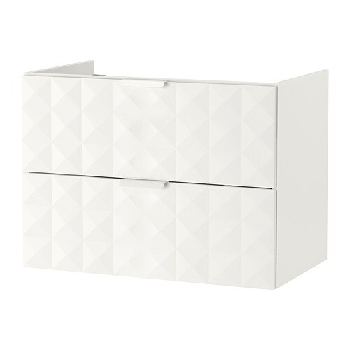 godmorgon waschbeckenschrank 2 schubl resj n wei 80x47x58 cm ikea. Black Bedroom Furniture Sets. Home Design Ideas