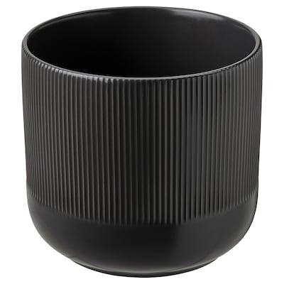 GRADVIS Übertopf, drinnen/draußen schwarz, 15 cm