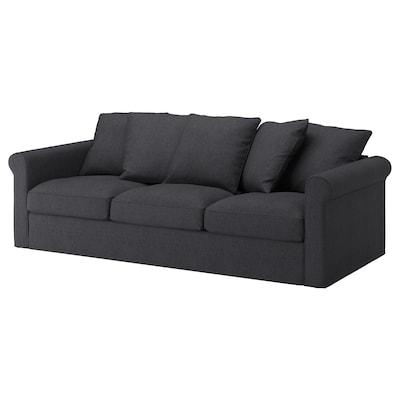 GRÖNLID 3er-Sofa, Sporda dunkelgrau