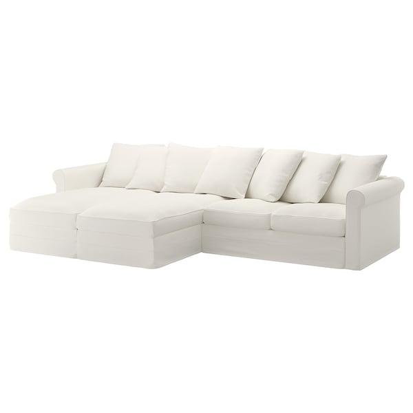 GRÖNLID Bezug 4er-Sofa, mit Récamieren/Inseros weiß
