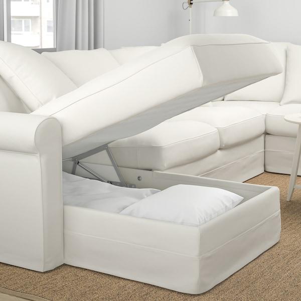 GRÖNLID Ecksofa 5-sitzig, mit Récamiere/Inseros weiß