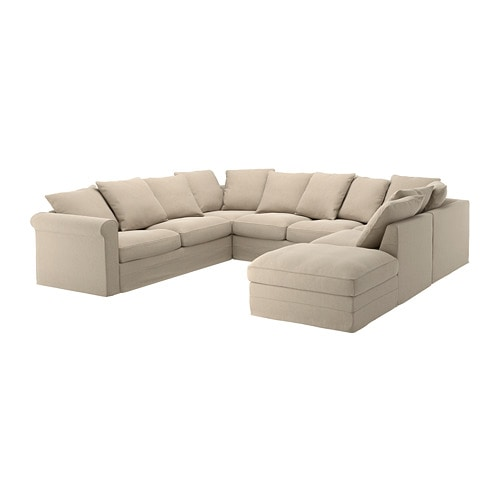 Gronlid Bezug 6er Sofa U Form Ohne Abschluss Inseros Weiss Ikea