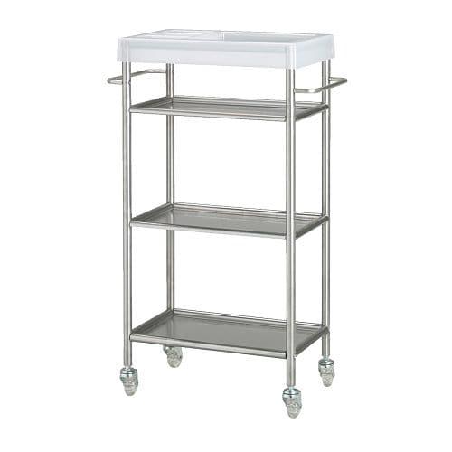 Keuken Opbergkast Ikea : IKEA Stainless Steel Cart