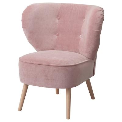 GUBBO Sessel, Samt rosa