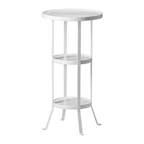 Gartenmobel In Weiss : GUNNERN Säulentisch Dank der erhöhten Tischkante bleibt alles an Ort