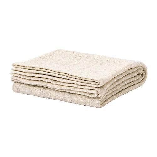 GURLI Plaid , weiß, beige Länge: 180 cm Breite: 120 cm