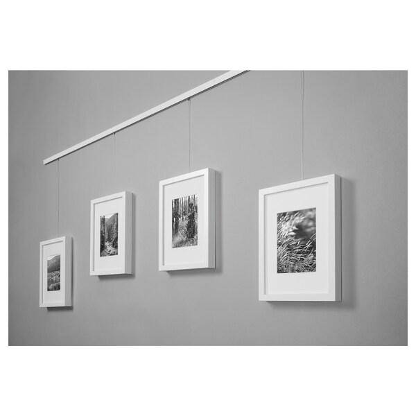 HAGHED Bilderschiene, weiß, 115 cm