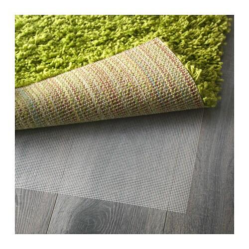 ikea hampen teppich shaggy gr n langflor hochflor l ufer br cke 80 x 80 cm neu ebay. Black Bedroom Furniture Sets. Home Design Ideas