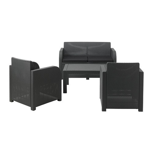 rattan gartenm bel garnitur lounge set rattanoptik sitzgruppe sommerm bel grau ebay. Black Bedroom Furniture Sets. Home Design Ideas
