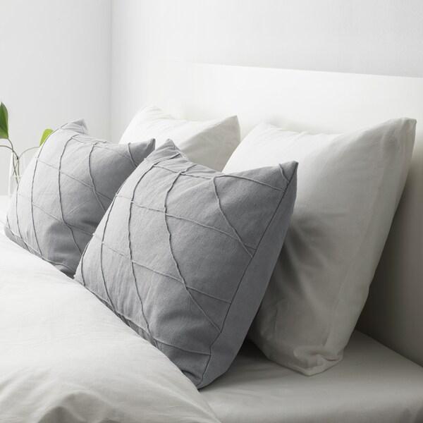 HARÖRT Kissen, grau, 40x65 cm