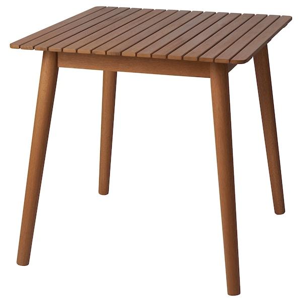 HATTHOLMEN Tisch/außen, Eukalyptus/Eiche hell, 75x75x74 cm