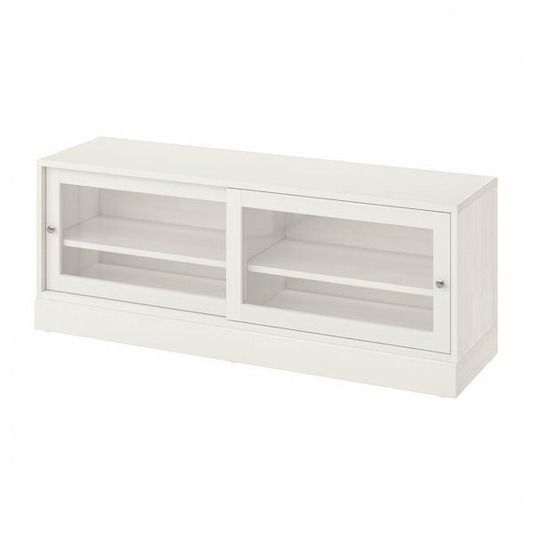 HAVSTA TV-Bank mit Sockel, weiß, 160x47x62 cm