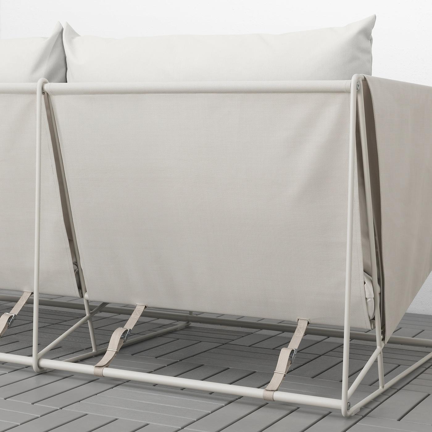 HAVSTEN 2er-Sofa, drinnen/draußen, beige, 179x94x90 cm