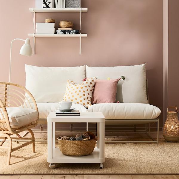 HAVSTEN 2er-Sofa, drinnen/draußen, ohne Armlehnen/beige, 164x94x90 cm