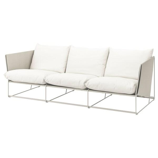 HAVSTEN 3er-Sofa, drinnen/draußen, beige, 260x94x90 cm