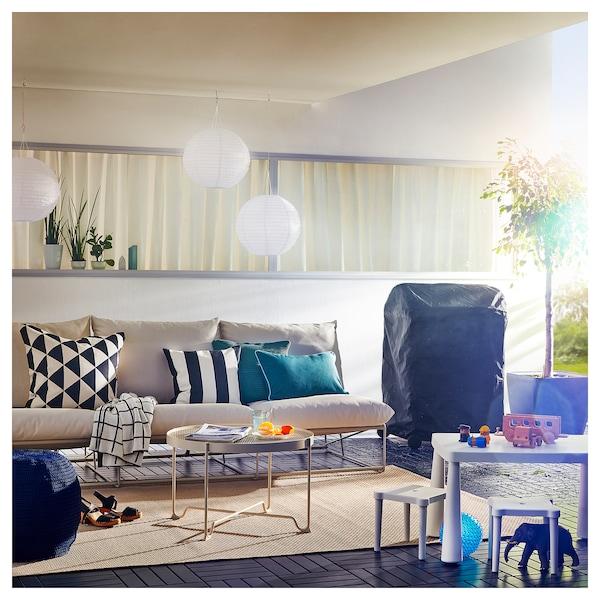 HAVSTEN 3er-Sofa, drinnen/draußen, ohne Armlehnen/beige, 245x94x90 cm