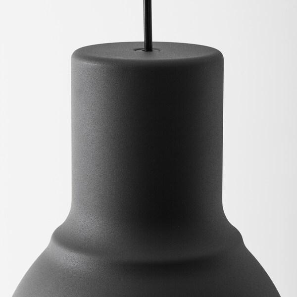 HEKTAR Hängeleuchte, dunkelgrau, 22 cm