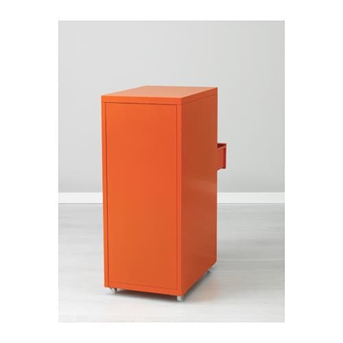 ikea helmer schubladenelement mit rollen b roschrank orange b rocontainer neu. Black Bedroom Furniture Sets. Home Design Ideas