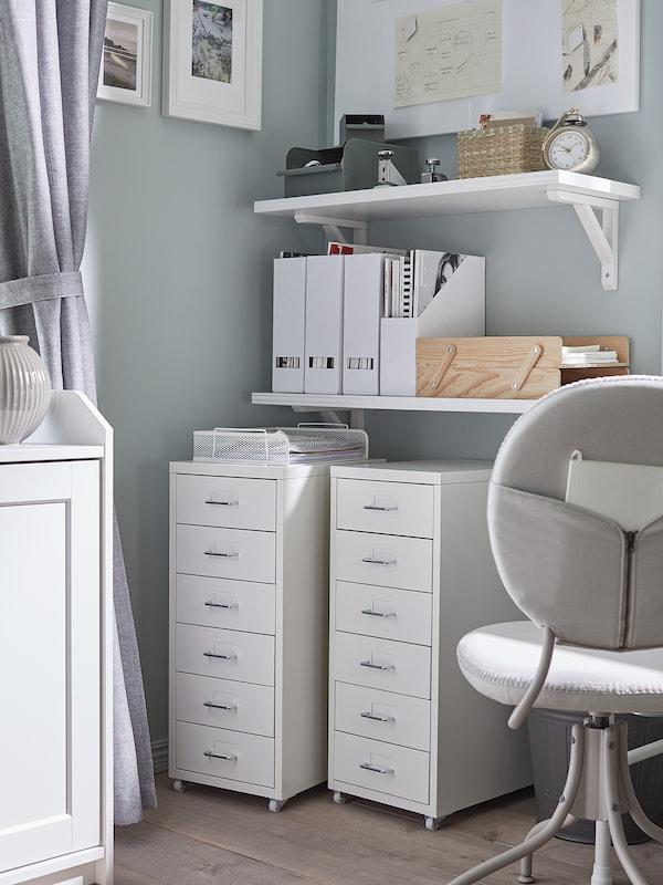HELMER Schubladenelement auf Rollen, weiß, 28x69 cm