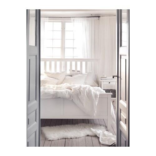 Einzelbett ikea hemnes  HEMNES Bettgestell - 180x200 cm, -, weiß gebeizt - IKEA