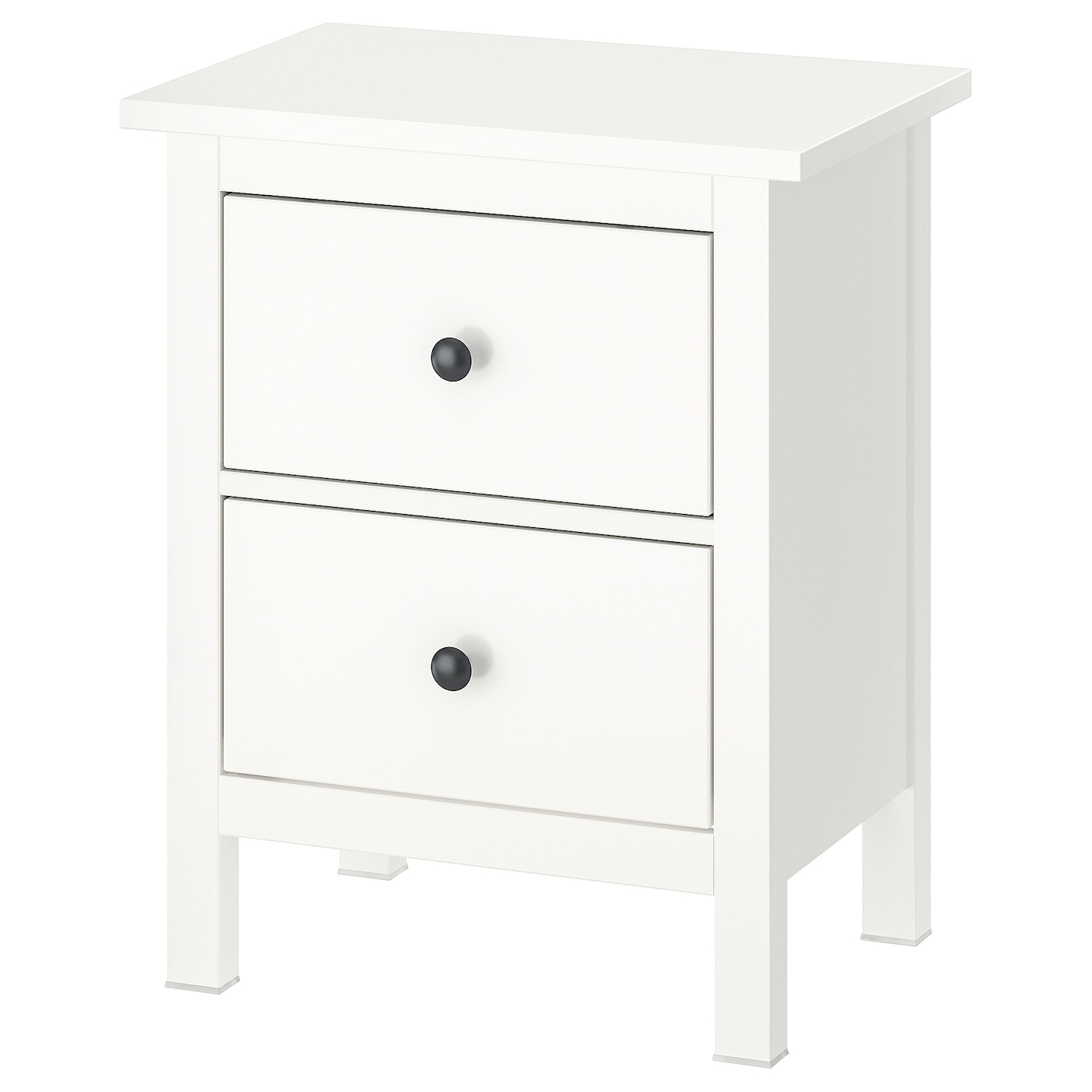 HEMNES Kommode mit 2 Schubladen - weiß 54x66 cm