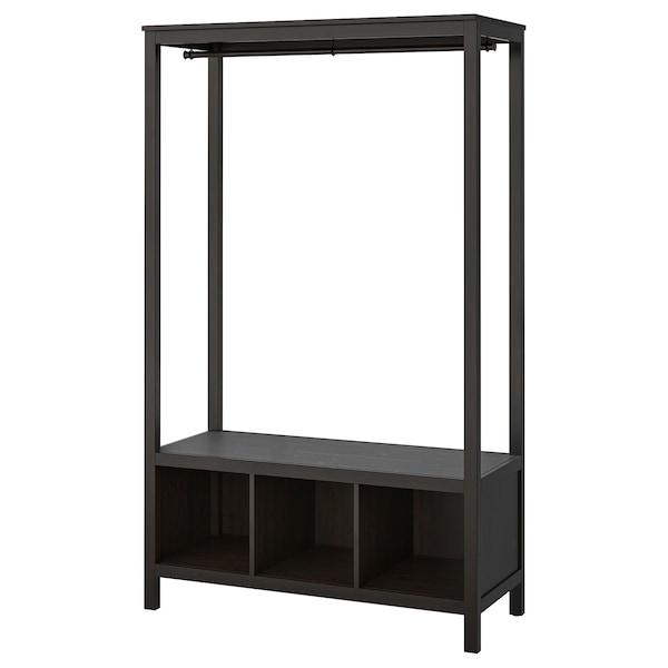 HEMNES Kleiderschrank, offen, schwarzbraun, 120x50x197 cm