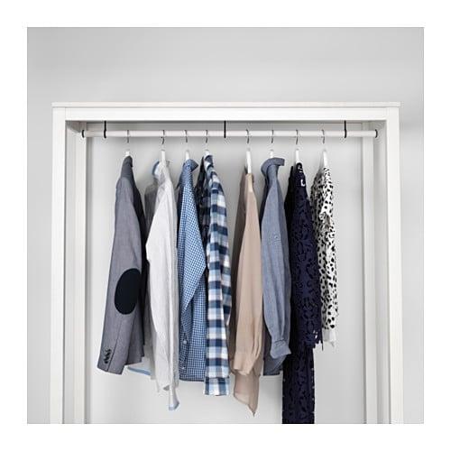Kleiderschrank ikea weiß offen  HEMNES Kleiderschrank, offen - weiß las., 120x50x197 cm - IKEA