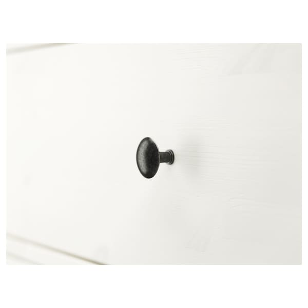 HEMNES Kommode mit 3 Schubladen, weiß gebeizt, 108x96 cm