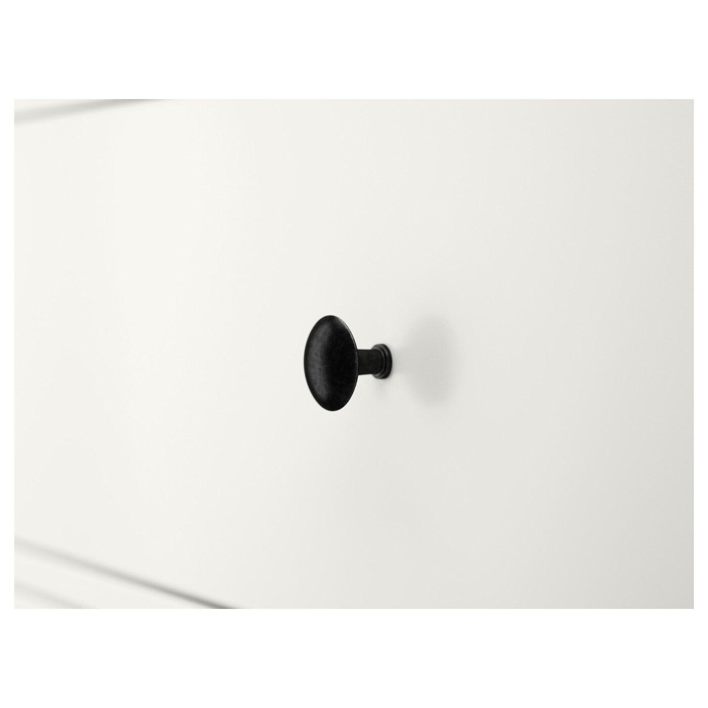 HEMNES Kommode mit 6 Schubladen, weiß, 108x131 cm