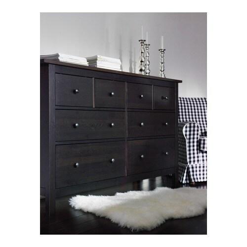 HEMNES Kommode mit 8 Schubladen - grau lasiert - IKEA