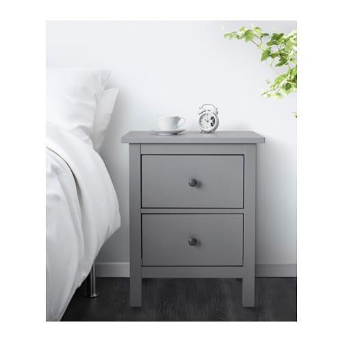 Hemnes Kommode Mit 2 Schubladen Grau Lasiert Ikea