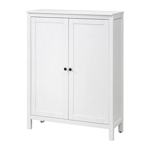 hemnes schrank mit 2 t ren wei gebeizt ikea. Black Bedroom Furniture Sets. Home Design Ideas