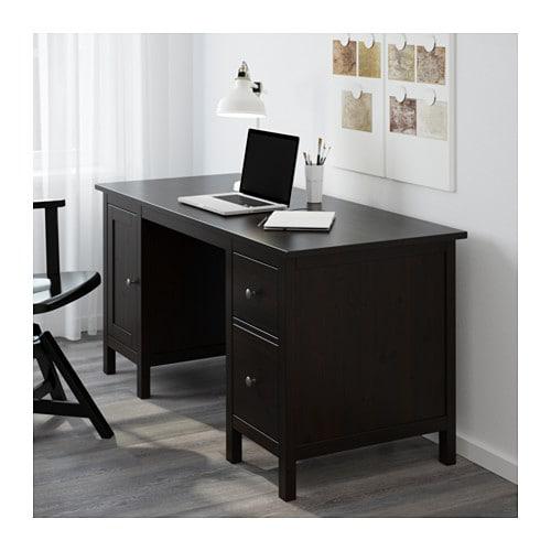 hemnes schreibtisch schwarzbraun ikea. Black Bedroom Furniture Sets. Home Design Ideas