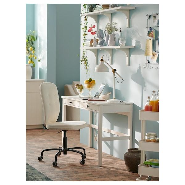 HEMNES Schreibtisch mit 2 Schubladen, weiß gebeizt, 120x47 cm