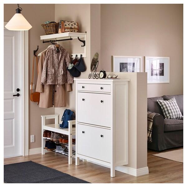 HEMNES Schuhschrank, 2fach, weiß, 89x127 cm